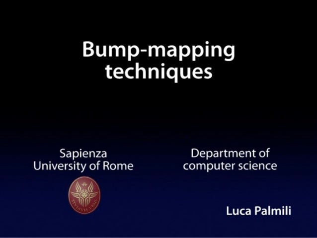 Bump mapping Techniques