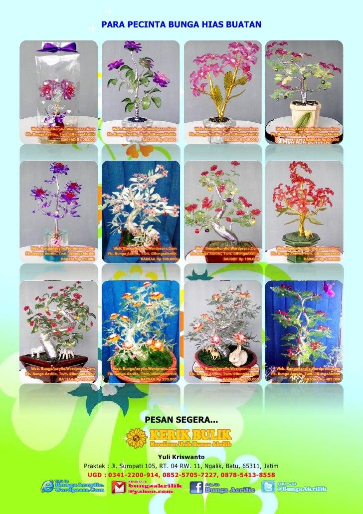 Foto Bunga Akrilik (Acrilic Flower Display)
