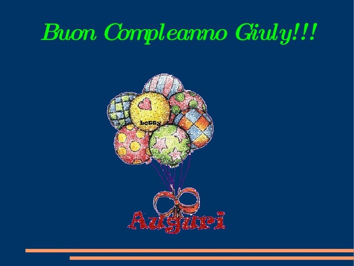 Buon Compleanno Giuly!!!