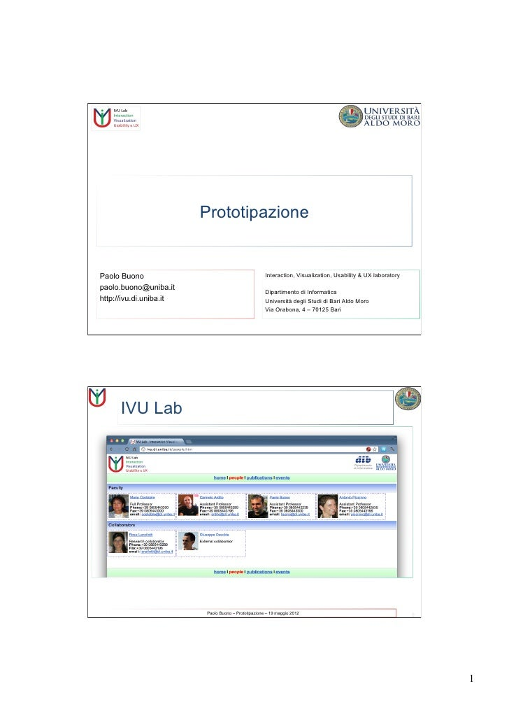 PrototipazionePaolo Buono                                          Interaction, Visualization, Usability & UX laboratorypa...