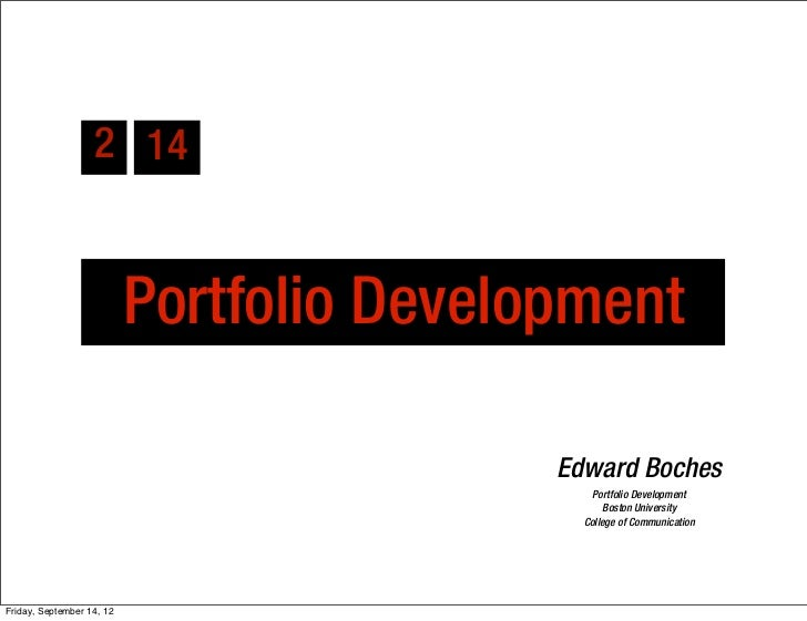 2 14                           Portfolio Development                                           Edward Boches              ...
