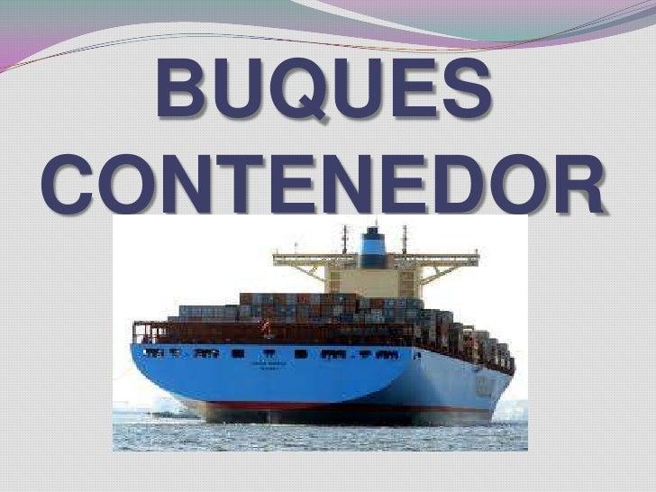 Buques containeros