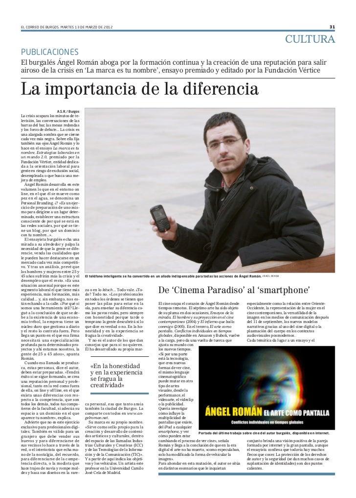 EL CORREO DE BURGOS. MARTES 13 DE MARZO DE 2012                                                                           ...