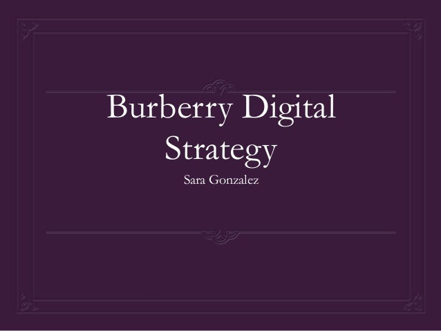 Burberry digitalstrat