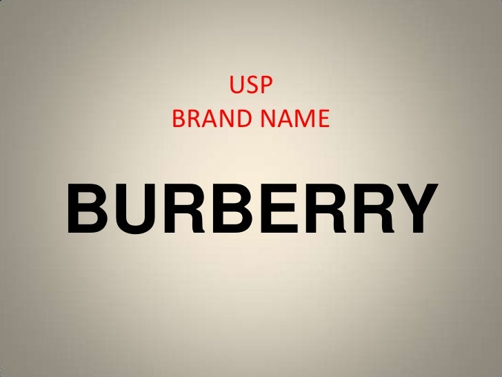 USP  BRAND NAMEBURBERRY