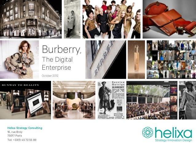 Burberry,                         The Digital                         Enterprise                         October 2012Helix...