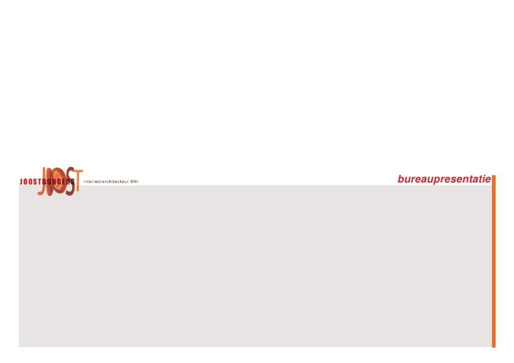 Bureaupresentatie Joost Bongers Interieurarchitectuur Bni 22 1 10