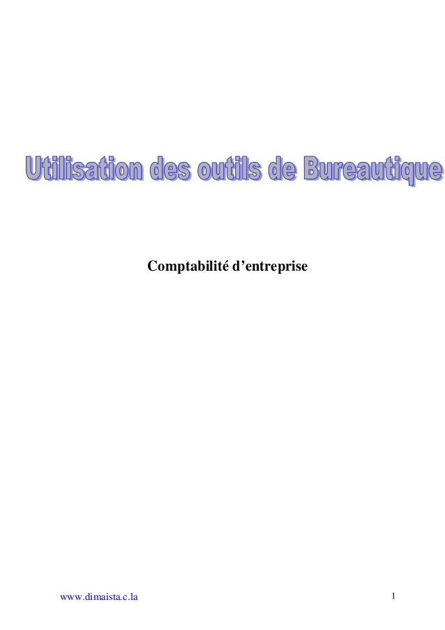 Comptabilité d'entreprisewww.dimaista.c.la                               1