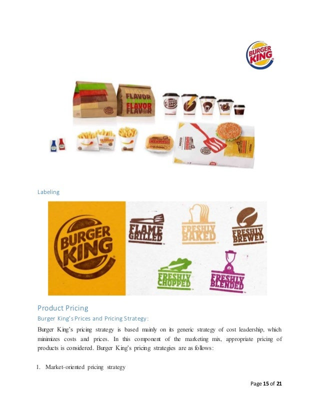 burger king marketing mix Marketing mix the marketing mix the marketing mix the objective of this document is to gain an understandable idea of the marketing mix.
