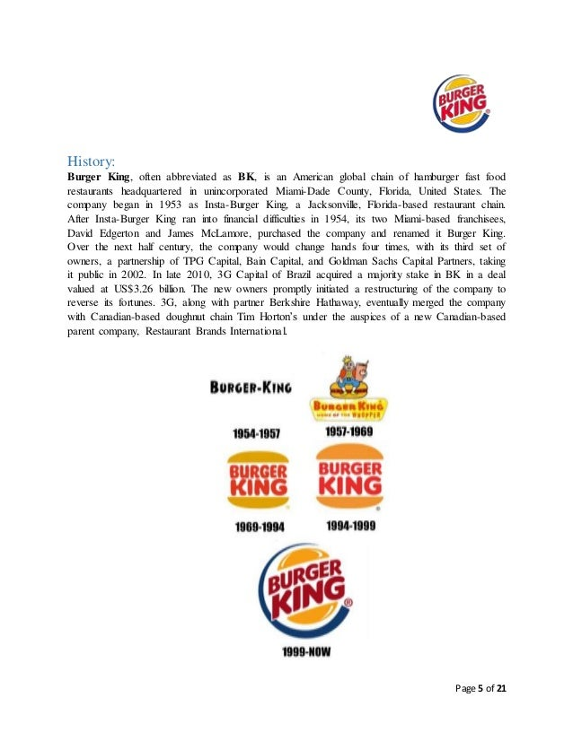organizational structure of burger king Organisational structure of burger king holdings : burger king, often abbreviated as bk, is a global chain of hamburger fast food restaurants.