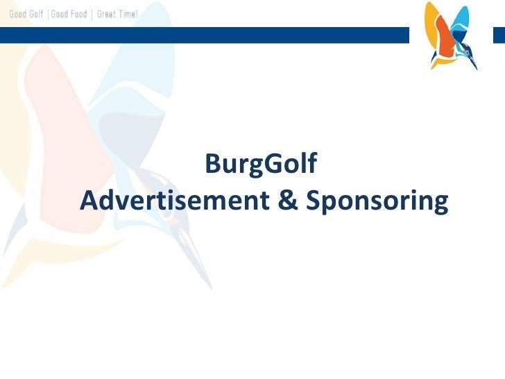 BurgGolf  Advertisement & Sponsoring