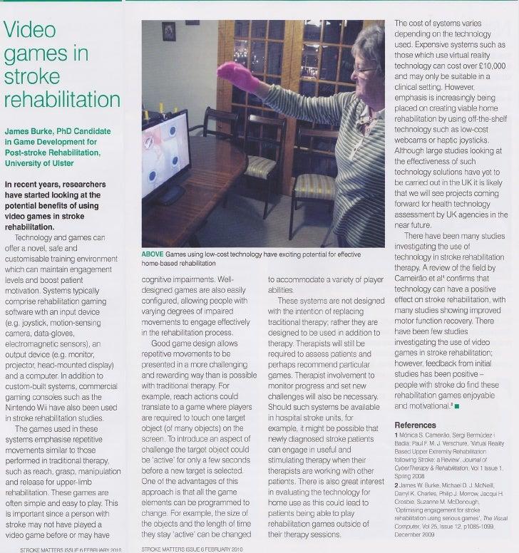 Video Games in Stroke Rehabilitation