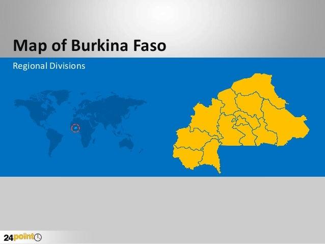 Map of Burkina Faso Regional Divisions