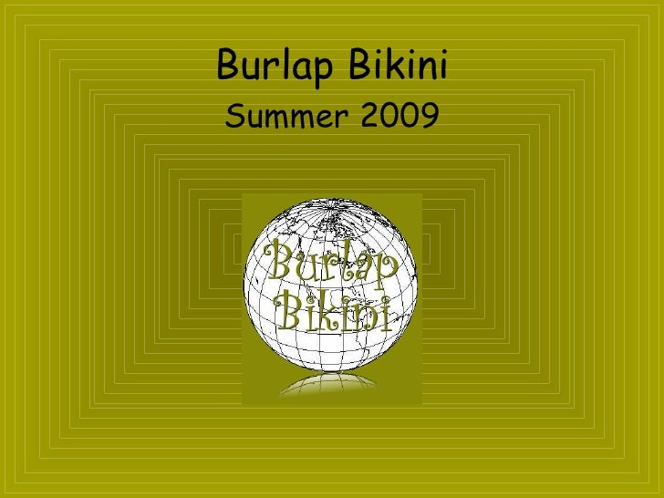 Burlap Bikini Look Book For Blog