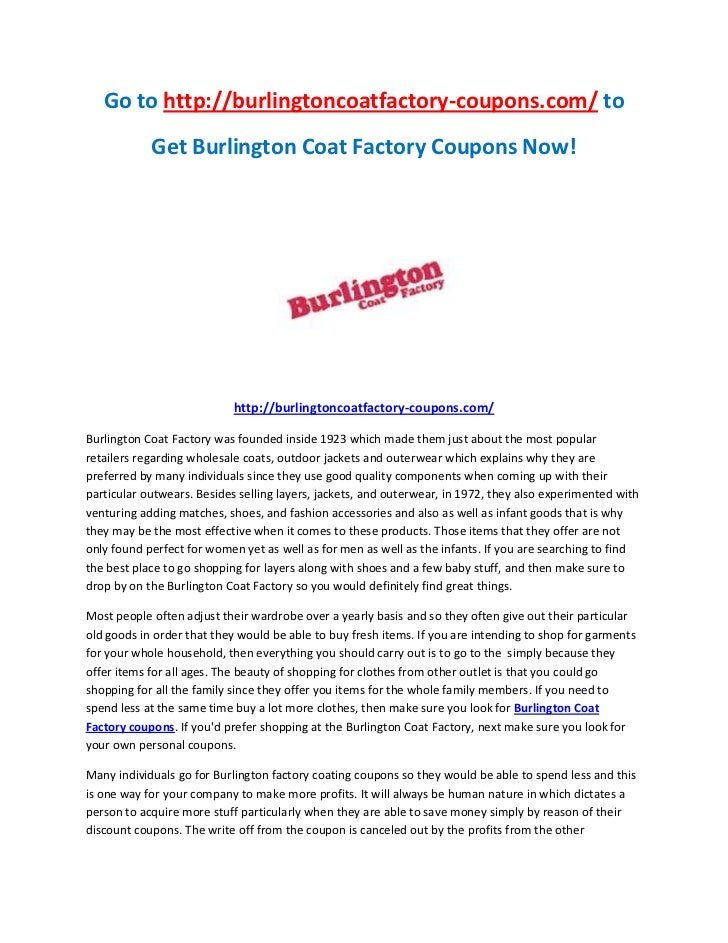 picture about Burlington Coat Factory Printable Coupons identify Burlington coat manufacturing unit discount codes codes 2018 : Discount coupons ibis resort