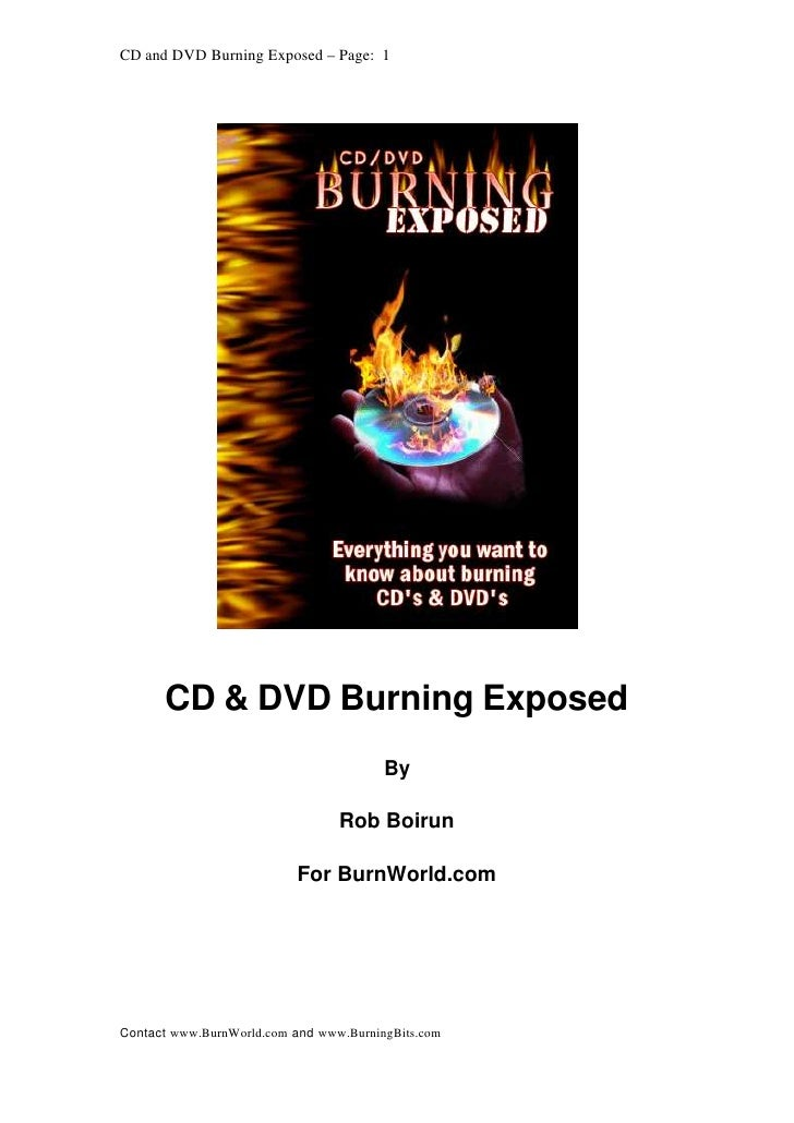 CD & DVD Burning exposed