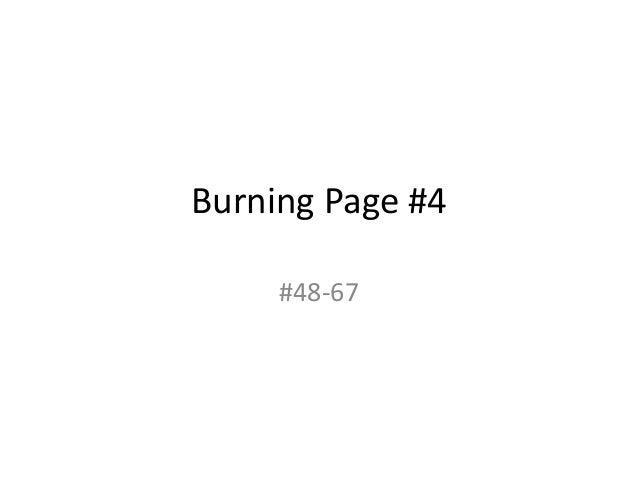 Burning Page #4 #48-67
