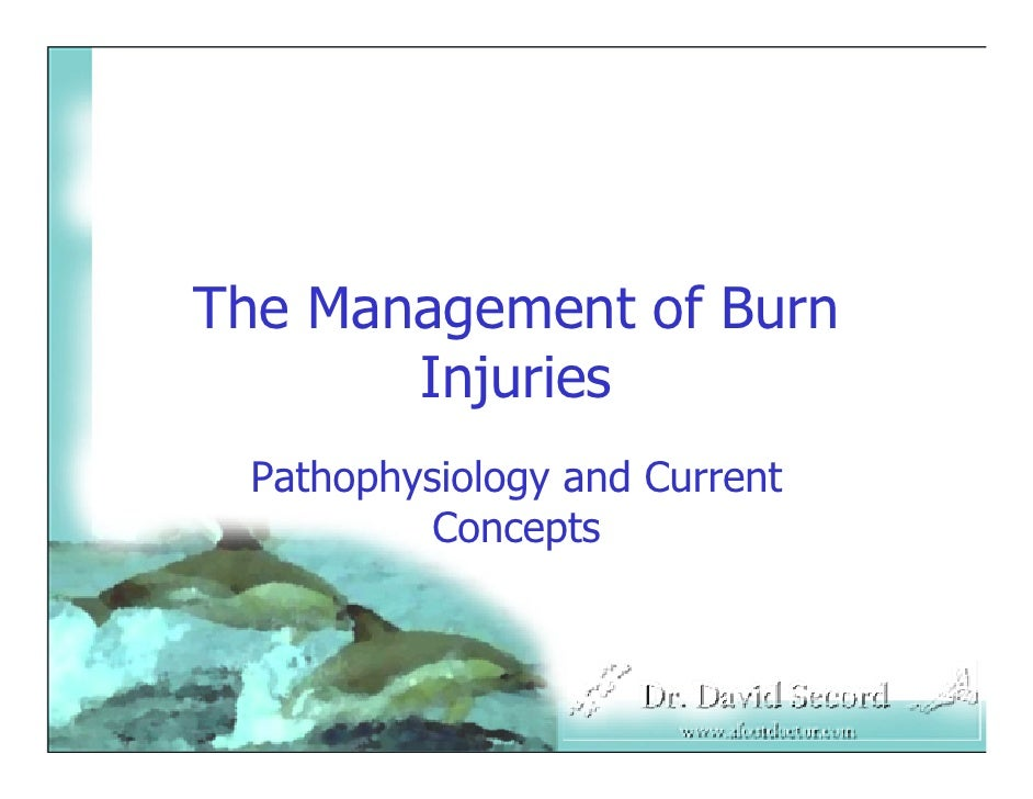 The Management of Burn        Injuries  Pathophysiology and Current           Concepts