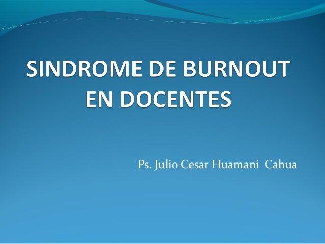 Ps. Julio Cesar Huamani Cahua