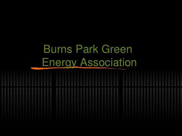 Burns Park Green  Energy Association