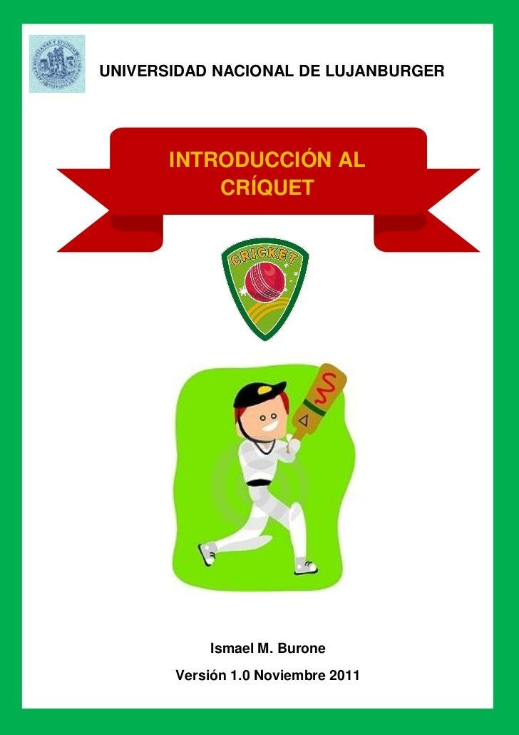 Introducción al Críquet