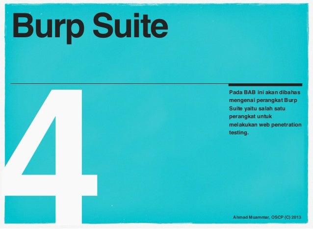 Burp Suite4             Pada BAB ini akan dibahas             mengenai perangkat Burp             Suite yaitu salah satu  ...