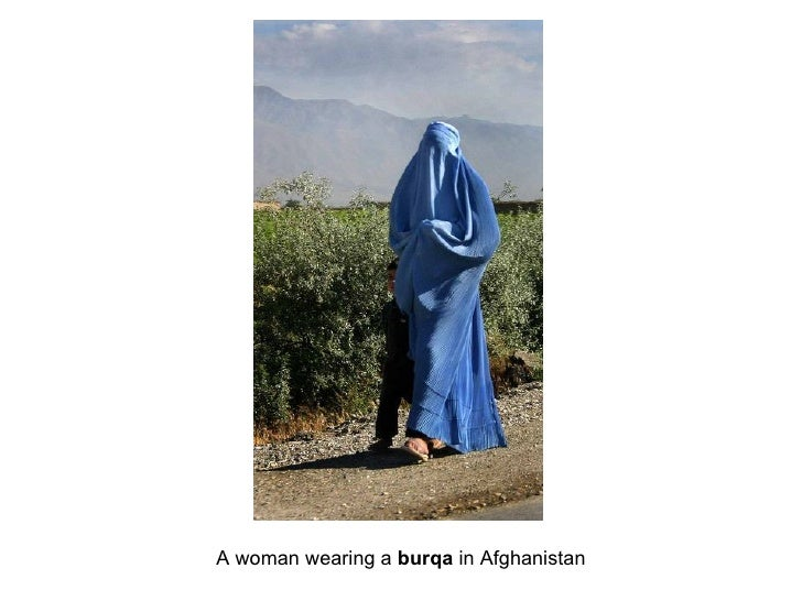 A woman wearing a burqa in Afghanistan