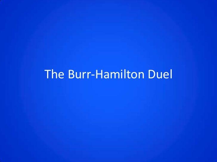 Burr hamilton duel