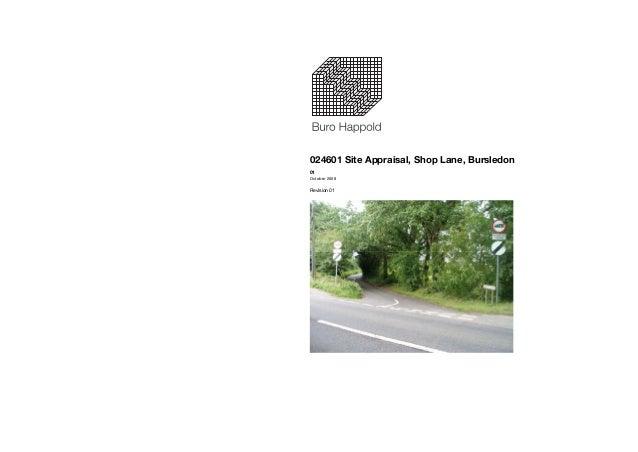 Bursledon Buro Happold Site Appraisal Report