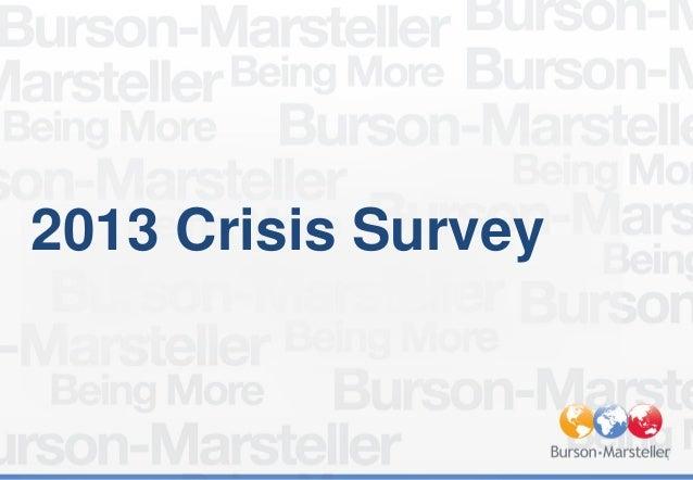 Burson-Marsteller EMEA 2013 Crisis Survey