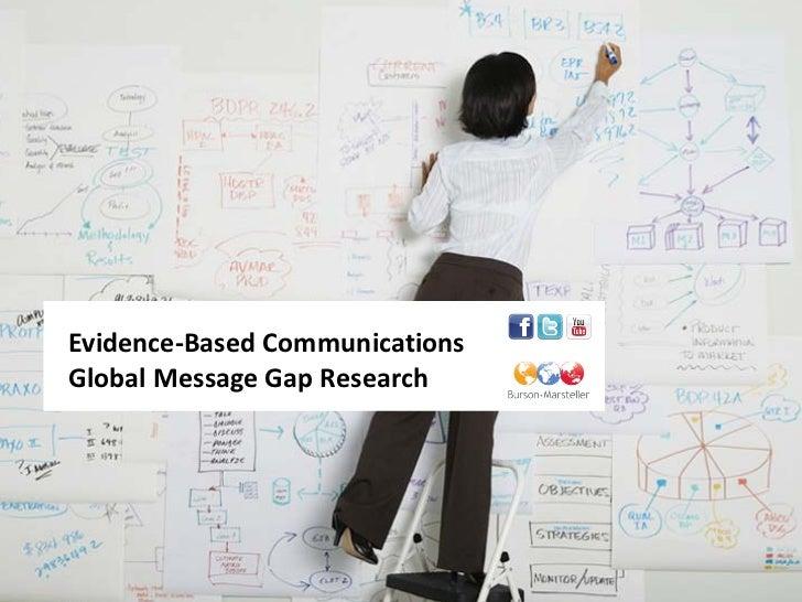 Burson-Marsteller Global Message Gap Research