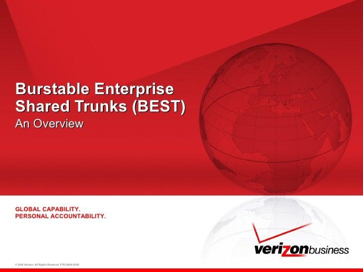 Burstable Enterprise  Shared Trunks (BEST) An Overview