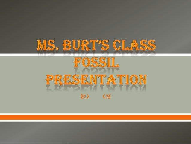 Ms. Burt's Class Fossil Presentation