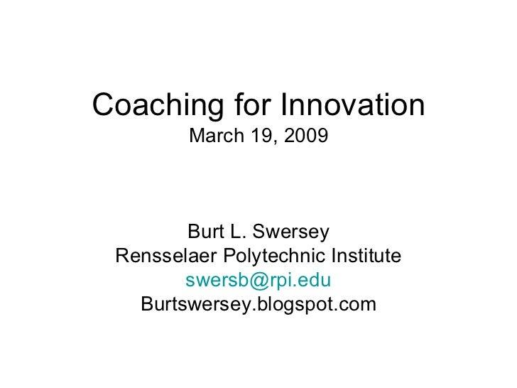 Burt Coaching For Innovation