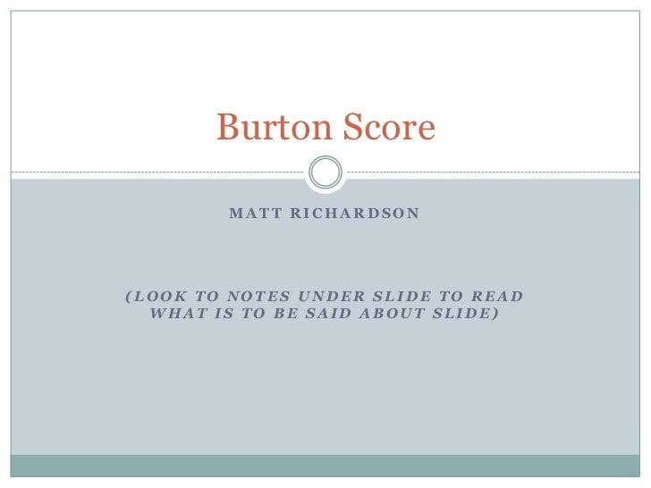 Burton score