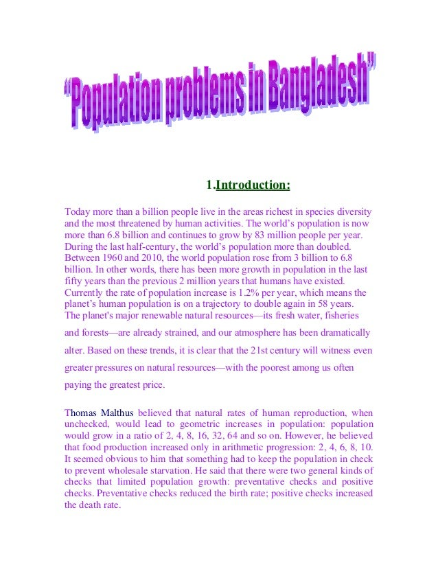 Population problem essay in english