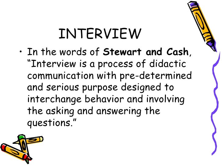 Interviewing Stewart And Cash Words of Stewart And Cash