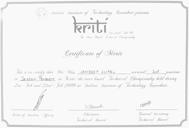 Bus Design Certificate