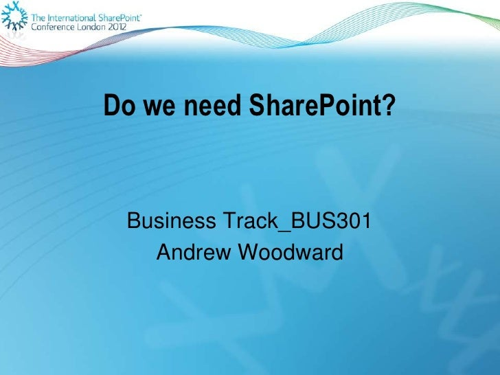 Do we need share point