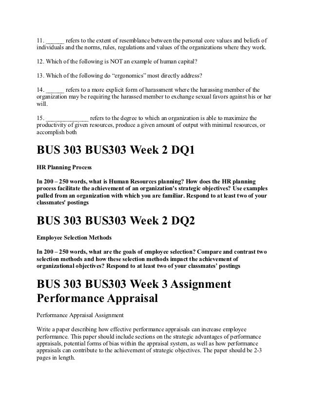 reflective essay on bus 303 human resource management Eeoc paper the purpose of this  effective human resources management theresa tapley bus 303 dr kevin righter march 13,  essay human resource management:.