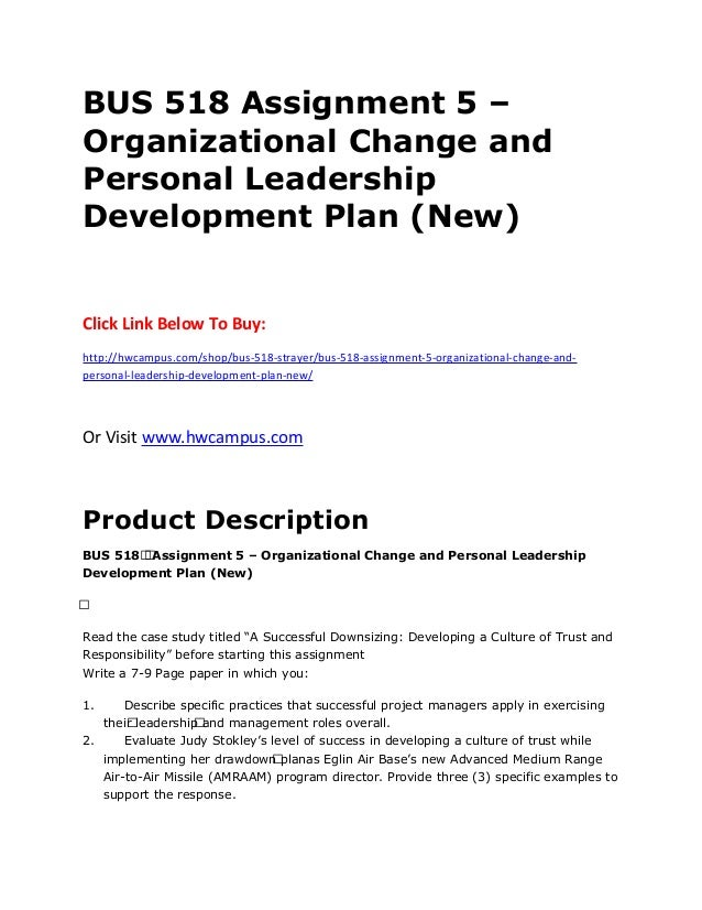 Leadership development plan paper