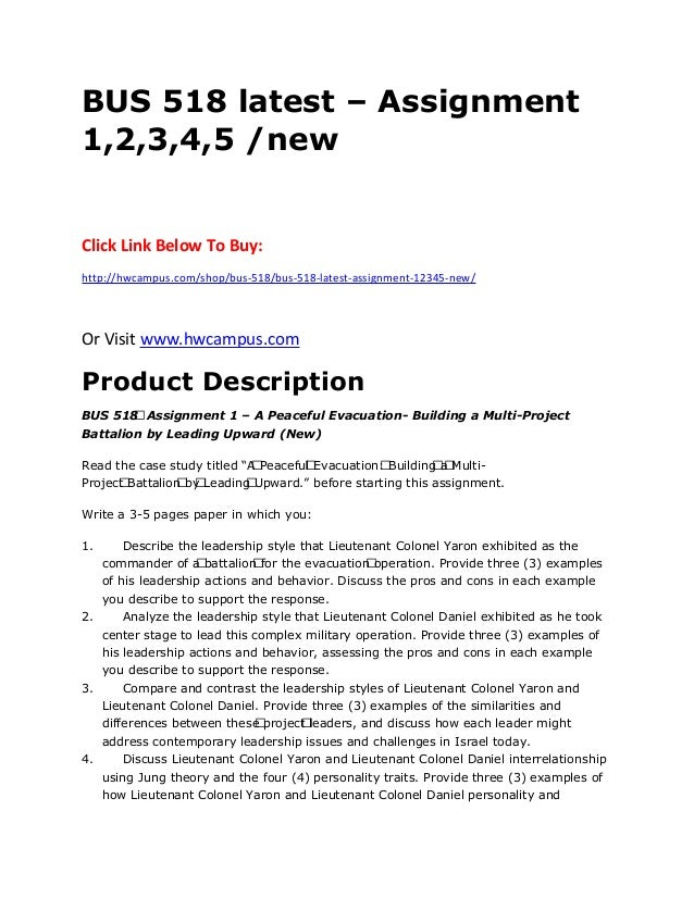 assignment 1 bus 518 Bus/518 week 3 assignment 1 – strayer  click on the link below to purchase a+ graded material instant download  .