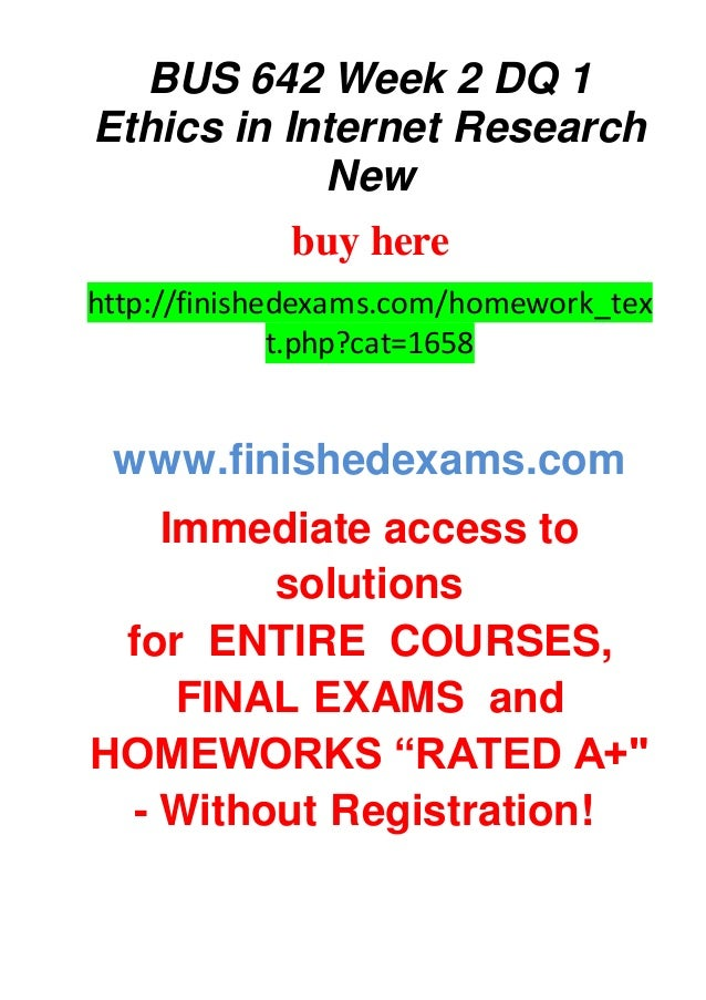 week 2 business research ethics mcd Res 351 is a online tutorial store we provides res 351 week 2 individual assignment business research ethics paper.