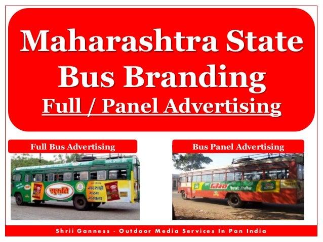 Maharashtra State Bus Branding Full / Panel Advertising Full Bus Advertising  Bus Panel Advertising  Shrii Ganness - Outdo...