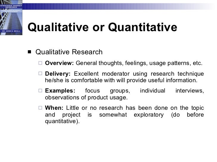 Quantitative Research: What's the Difference? qualitative vs quantitative research dissertation Qualitative Vs.