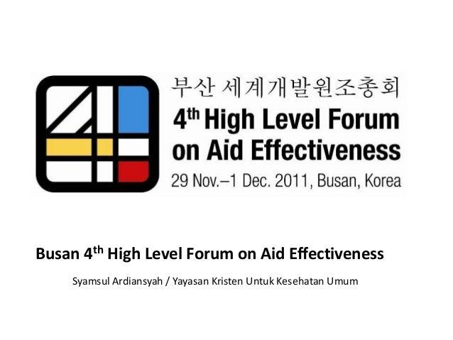 Busan 4th high level forum on aid effectiveness