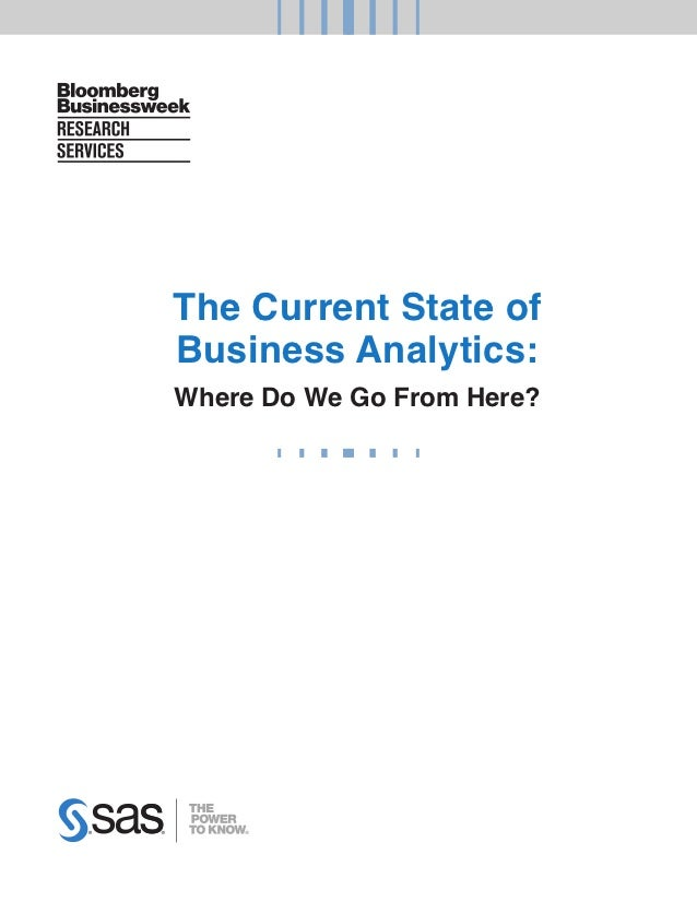 The Current State ofBusiness Analytics:Where Do We Go From Here?