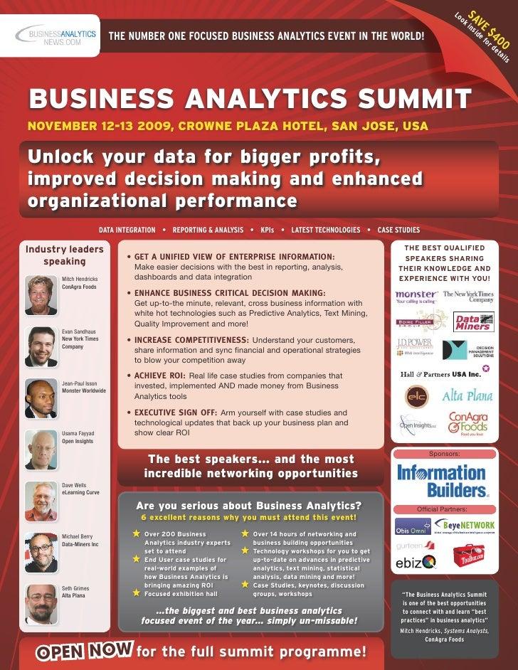 Business Analytics Summit Brochure