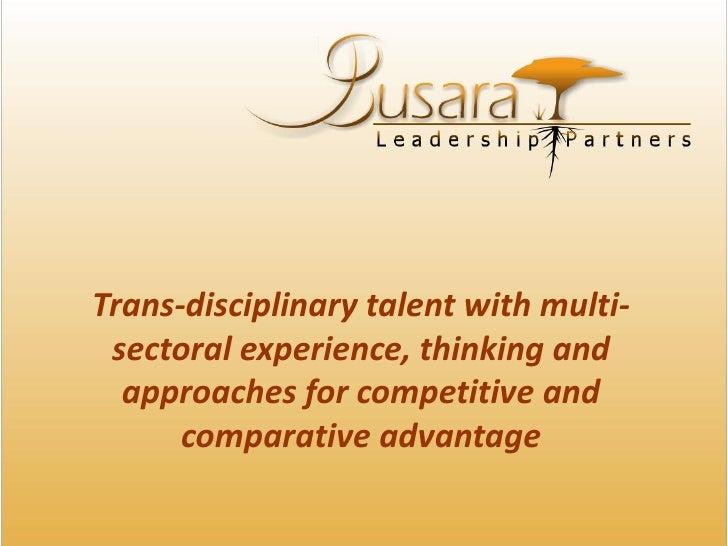 Busara Leadership Partners - Brief Profile