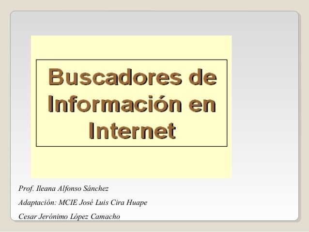 Prof. Ileana Alfonso Sánchez Adaptación: MCIE José Luis Cira Huape Cesar Jerónimo López Camacho